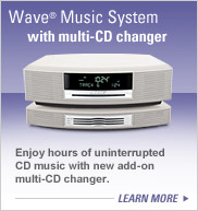 Wave music system with multi-CD changer
